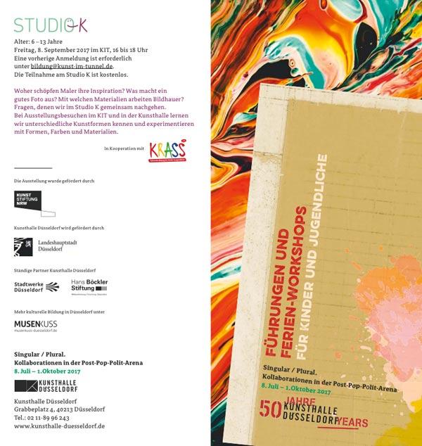 Kunsthalle Düsseldorf - Offenes Atelier / 22.07.17 (13-17 Uhr)