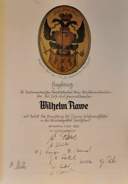 Aus der Geschichte des Goldenen Buches der Stadt Warendorf
