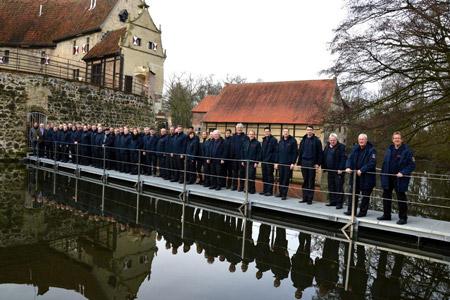 Umbau der Burg Vischering: Lüdinghauser Feuerwehr begutachtet Sicherheitskonzept