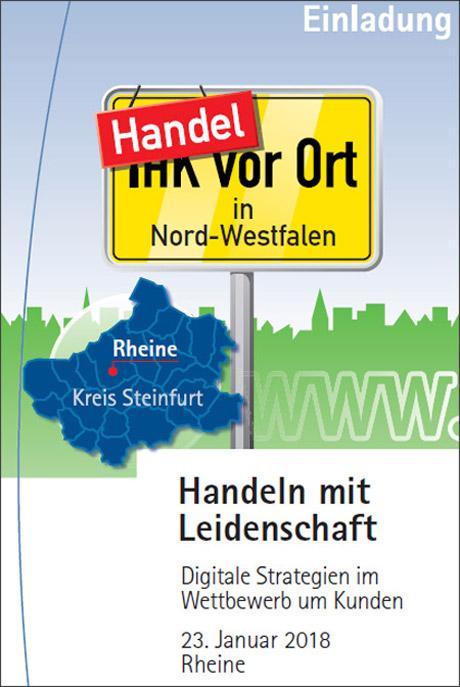 """""""Handeln mit Leidenschaft"""" - IHK-Vortrag in Rheine am 23.01.2018"""