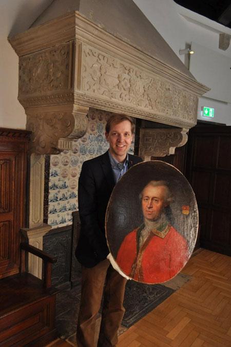 Zum 200. Todestag des ersten Landrates - Porträt fachkundig restauriert