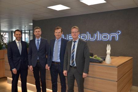 Bürgermeister besucht Firma Bluesolution Softeware GmbH in Rheine