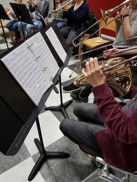 Die Sound Company probt für ihr Konzert