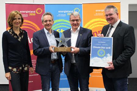 Climate Star 2018: energieland2050 mit europäischem Klimaschutz-Award ausgezeichnet