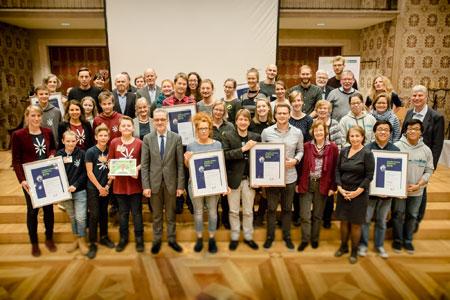 Umweltpreis 2018 im Rathaus verliehen - Jury sichtete 66 Bewerbungen