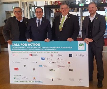 Oberbürgermeister unterzeichnet Call for Action der Grünen Hauptstädte Europas