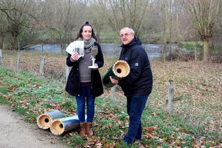 100 Röhren für den Steinkauz: Schutzprojekt im Kreis Warendorf