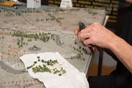 8000 neue Mini-Bäume für Stadtmodelle in Münster
