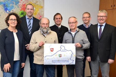 Unstimmigkeiten im Grenzverlauf zwischen dem Kreis Steinfurt und dem Land Niedersachsen aufgeklärt