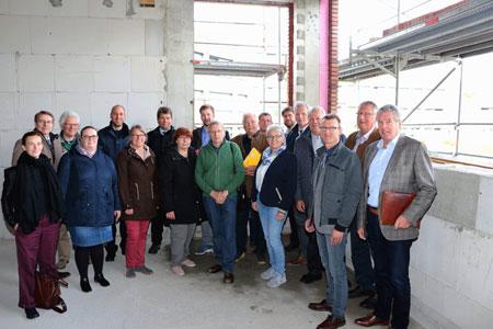 Ausschuss besichtigte Baustelle am Kreishaus