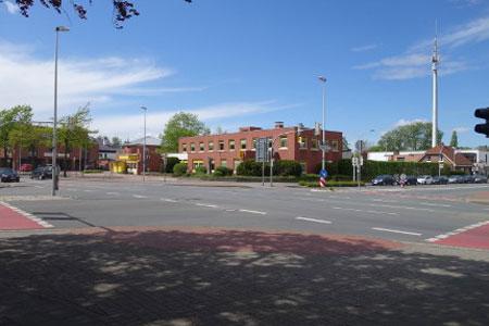Neuer Kreisverkehr entsteht an der Kreuzung Elbersstraße/In der Lauge in Emsdetten