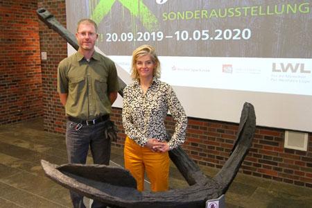 Ankunft eines Ankers: Größtes Exponat der Pest-Ausstellung erreicht Herne