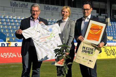 Mit Klimaschutz punkten: energieland2050 e. V. und VfL Sportfreunde Lotte e. V. kooperieren