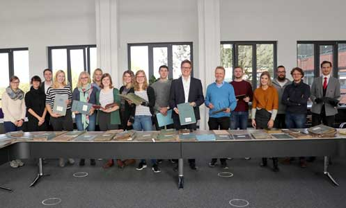 Münsteraner Studierende ein Semester lang regelmäßig im Kreisarchiv