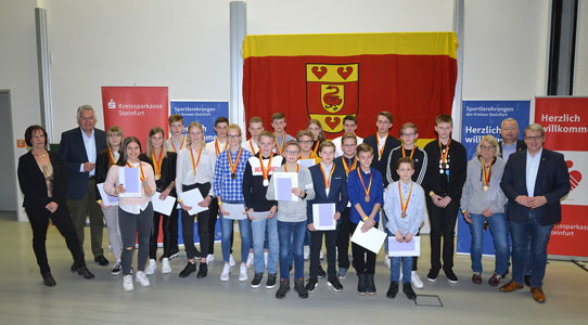 Landrat ehrt erfolgreiche Sportlerinnen und Sportler aus dem Kreis Steinfurt