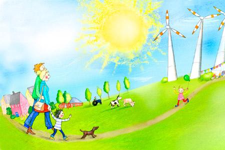 """energieland2050digital: """"Wind fangen - Grüner Strom für unsere Zukunft"""""""