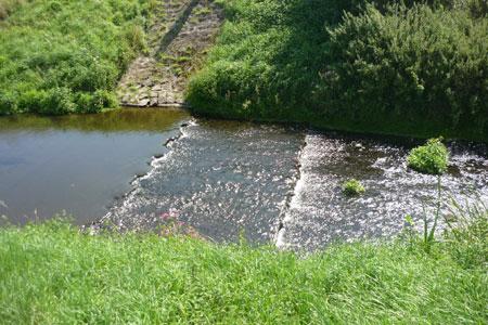 Bäche und Flüsse mit niedrigen Pegeln im Kreis Coesfeld