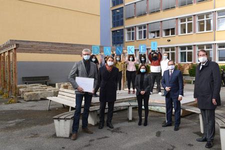 Einweihung des neu gestalteten Schulhofs der UNESCO-Schule Essen