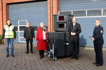 Zweite mobile Messstation kontrolliert die Geschwindigkeit im Kreis Warendorf