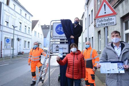 Fahrradstraßenachse von Steele nach Zollverein freigegeben