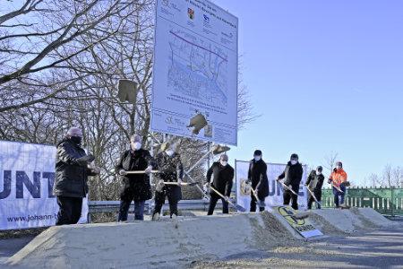 Spatenstich K 17: Projekt des Kreises Steinfurt mit der Stadt Hörstel startet