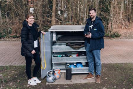 Fitnessstudio im Kleinformat - Digital gesteuerte Sportbox an der Sentruper Höhe ist gefragt